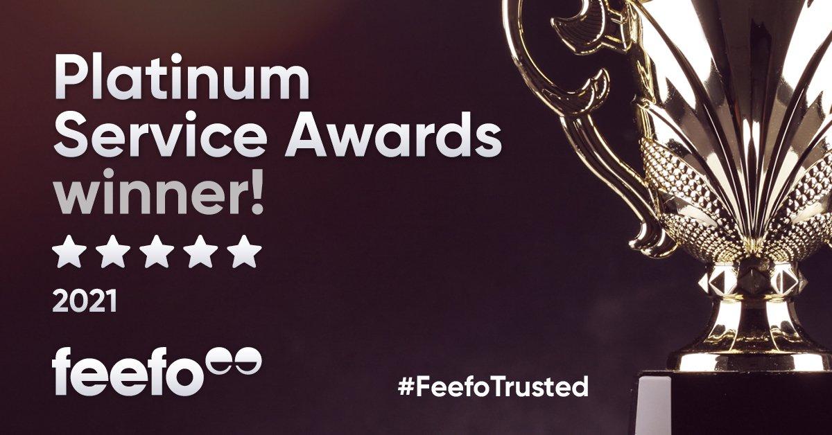 Wedinsure receives Feefo Platinum Trusted Service Award 2021 image